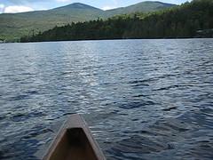 Canoeing On Lake Placid, New York