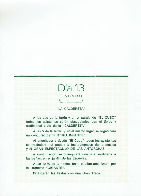 Programa Fiestas de San Lorenzo Año 1983