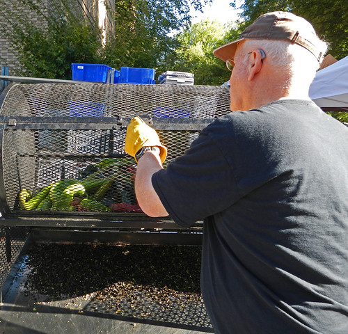 Roasting Peppers at the Portland Farmer's Market
