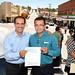 Gobernador Guillermo Padrés Elías junto alcalde Vidal Guadalupe Vázquez Chacón por Guillermo Padrés Elías
