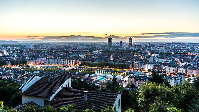 Lyon before sunrise