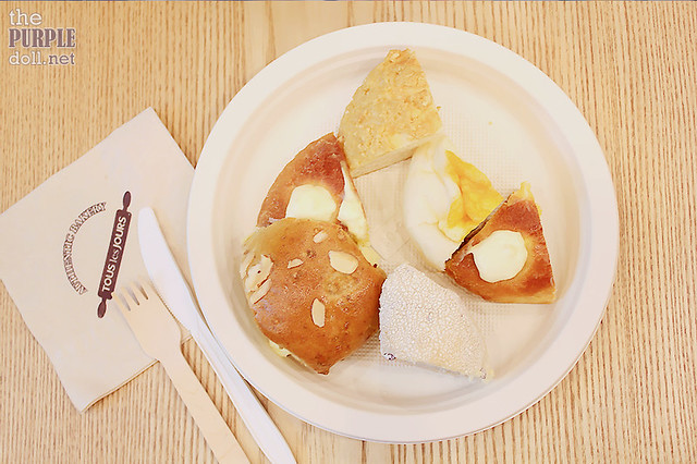 Bread samples from Tous Les Jours Trinoma