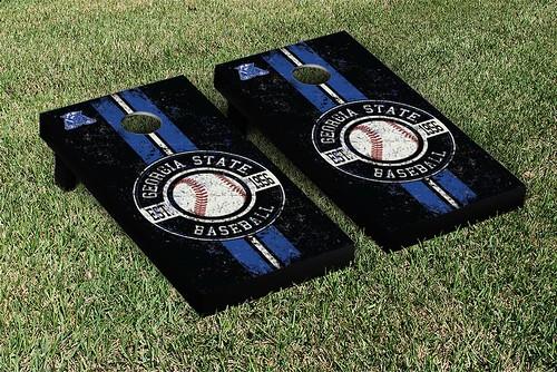 Georgia State Panthers Cornhole Game Set Baseball Vintage Version