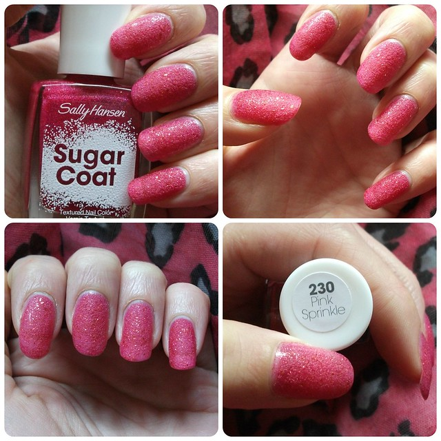 NOTD Sally Hansen Pink Sprinkle Sugar Coat