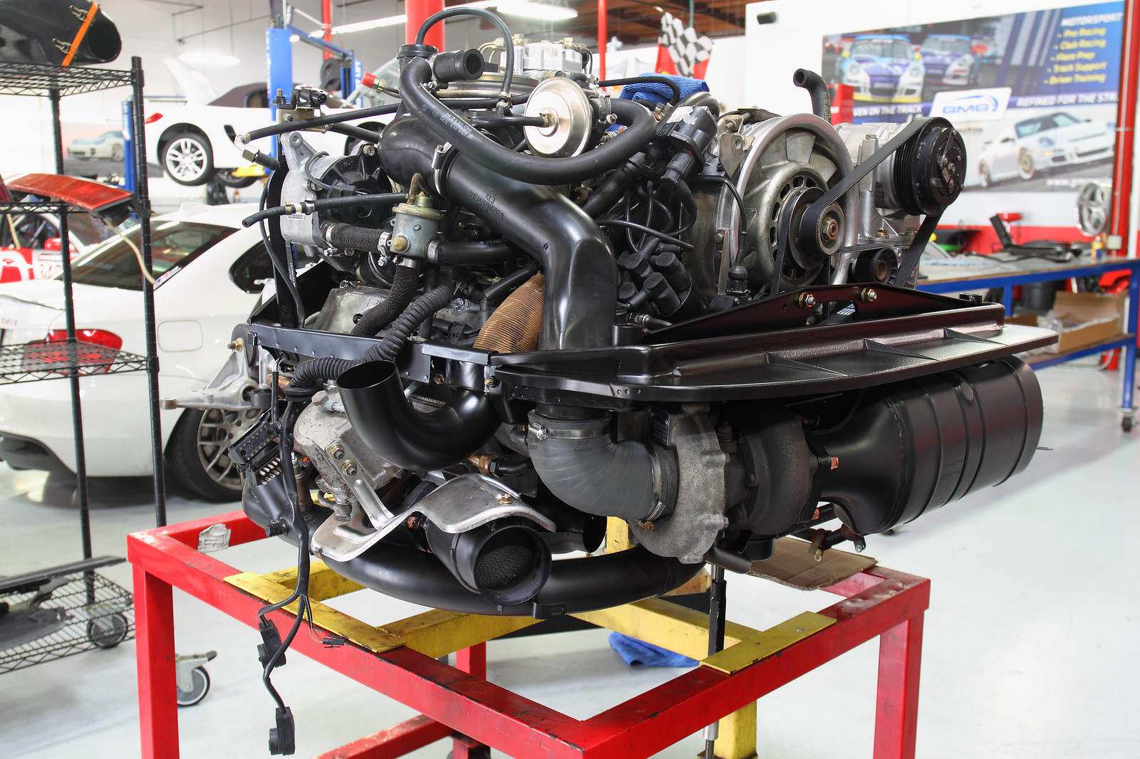 1992 Red Porsche 964 Turbo Mechanical Preservation Major