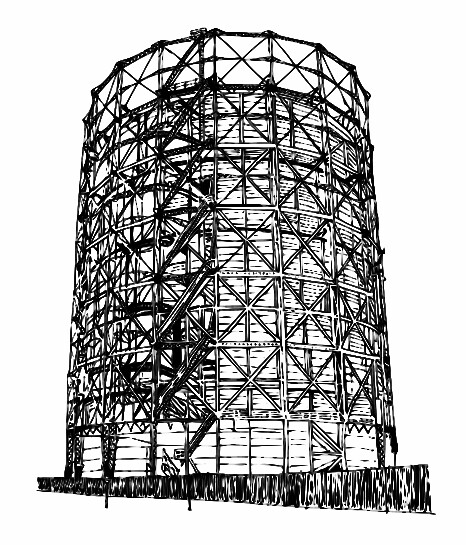 Line Drawing In Computer Graphics : Gasometer gin hoil