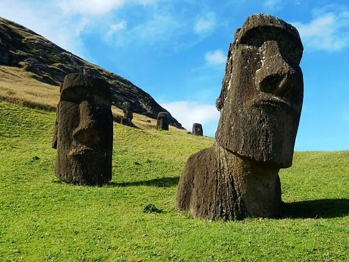 Moais in Rano Raraku - Rapa Nui - Eastern island - Chile