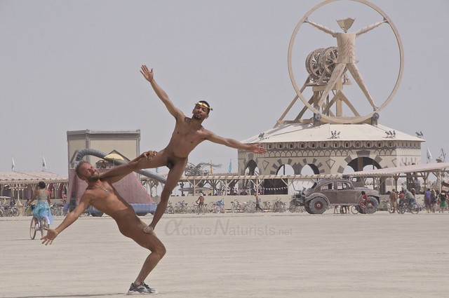 naturist acro-yoga camp Gymnasium 0000 Burning Man, Black Rock City, NV, USA