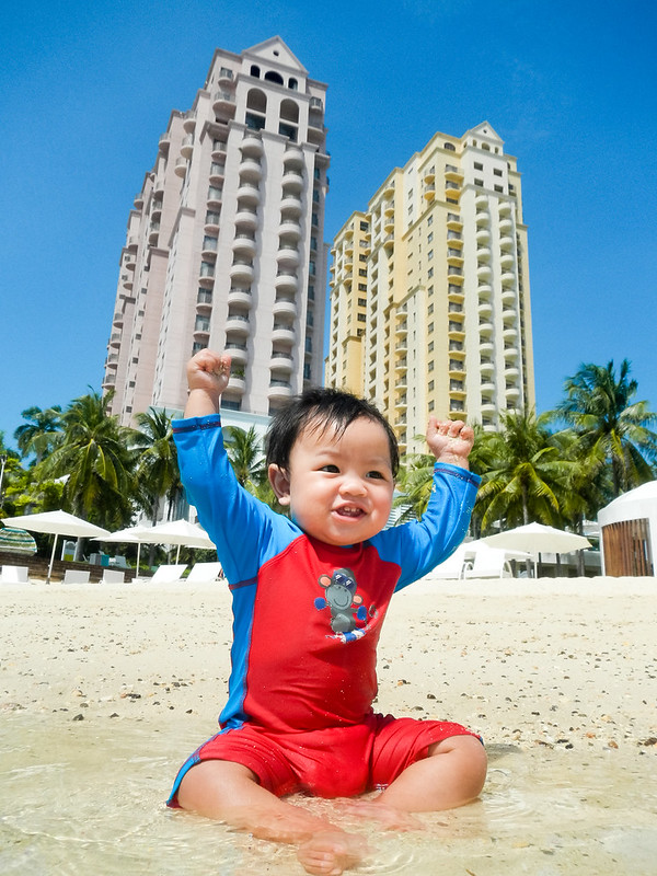 #LittleAdamBryce loves the beach and the sand