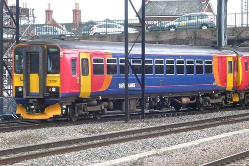 Class 153 381 'East Midland Trains' Diesel Multiple Unit on 'Dennis Basford's railsroadsrunways.blogspot.co.uk'
