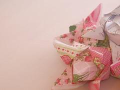 tulip flower origami napkins