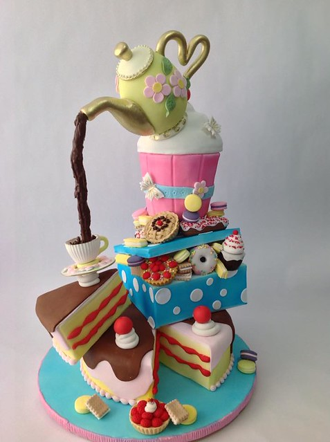 Cake by Adriana Claros Candyland Cake