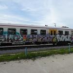 Ljubljana train graffiti