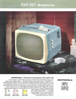 MOTOROLA Portable TV Dealer Sheet Model Americana - 14P10 (USA 1957)_1