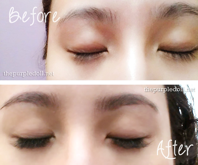 Duchess Lash Bar Before and After Eyelash Extensions
