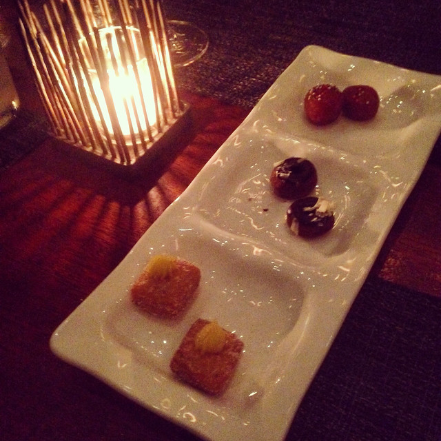 Three types of donuts at Colicchio & Sons