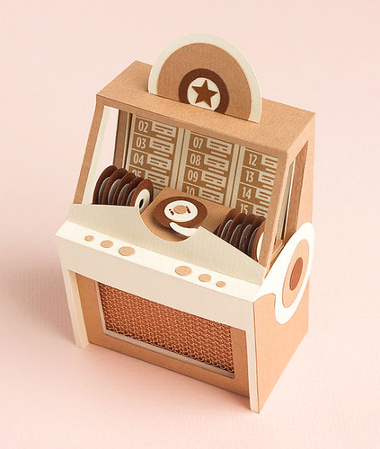 Paper Model Vintage Jukebox