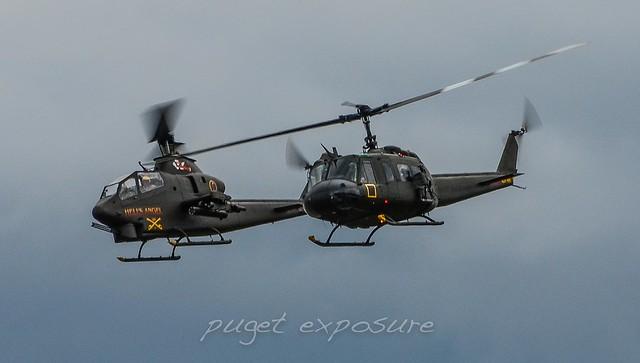 Olympic Flight Museum AH-1S COBRA / HH-1K Huey