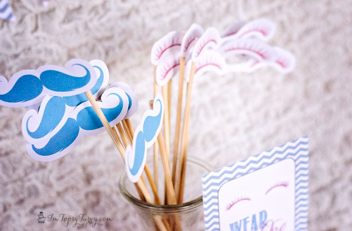 Gender reveal party printable pack and 15 more baby ...
