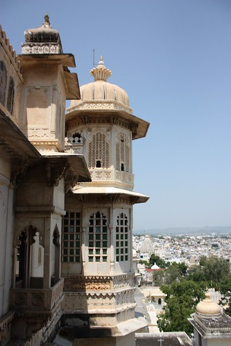 tower view from Udaipur's city palace