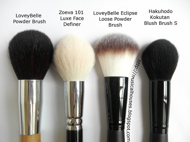 LoveyBelle Zoeva Hakuhodo Eclipse Powder Brush