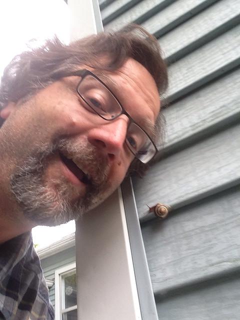 snail selfie
