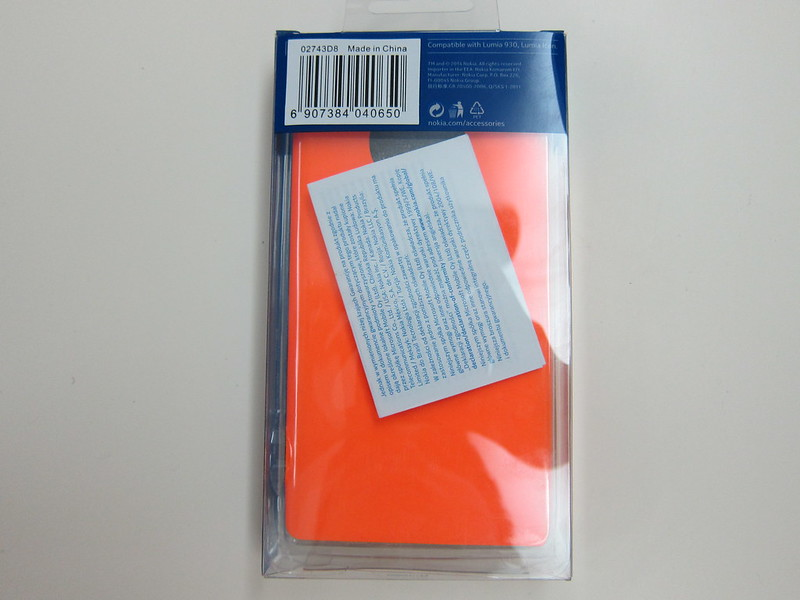 Nokia Lumia 930 Case (CP-637) - Packaging Back