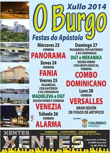 Culleredo 2014 - Festas do Apóstolo no Burgo - cartel