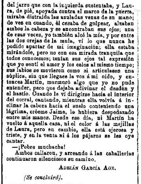 """""""La Venta del Alma"""", leyenda toledana publicada por Adrián García Age el 7 de septiembre de 1891 en """"El Correo Militar"""". (4)"""