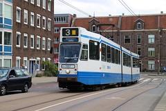 GVB blokkendoos tram 787, Lijn 3, Marnixplein