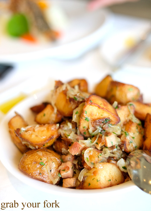 Roasted chat potatoes with speck at Jonah's, Whale Beach
