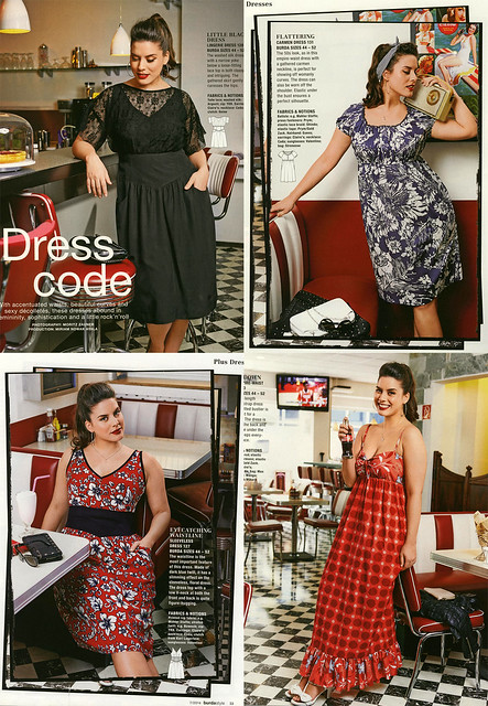 Burda-July-2014 Plus Size Dresses