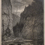GC250 Thomas Moran; Boulder Canyon, Colorado; 1876; Engraving - From The Graham and Barbara Curtis Collection