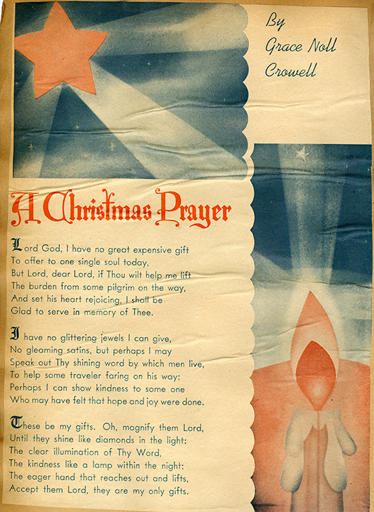 """A Christmas Prayer,"" by Grace Noll Crowell"