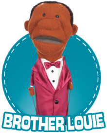 Puppet Brother Louie from What's in the Bible? DVD