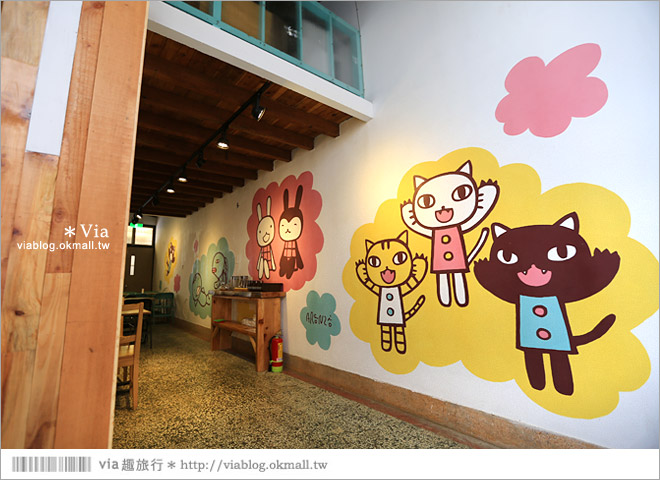 【阿朗基咖啡】台南店開幕囉!台南老屋餐廳推薦~老屋改造+可愛療癒系的新餐廳19