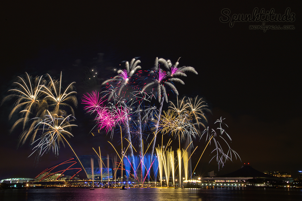 Singapore Sports Hub Opening Fireworks