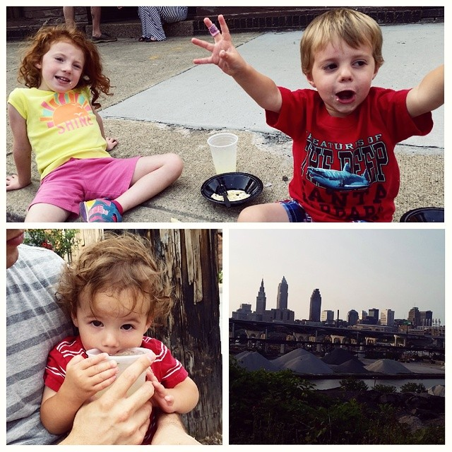 Fun times at taste of tremont!   That btw was the dudes reaction reaction to Lolita ' s mac n cheese. #tremont #thisiscle #CLEVELAND #stevensonpartyoffive