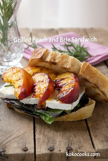 Grilled Peach And Brie Sandwich