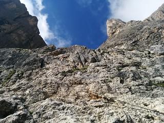 Pisciadù Klettersteig der Aufstieg