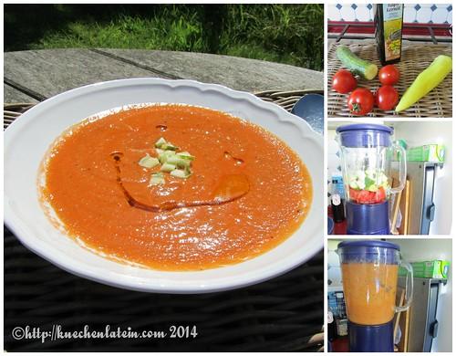 ©Kalte Holsteiner Gemüsesuppe mit Rapskernöl Collage
