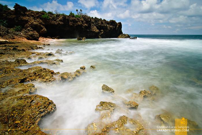 Strong Waves at Dasol's Balas Nagtaros Island