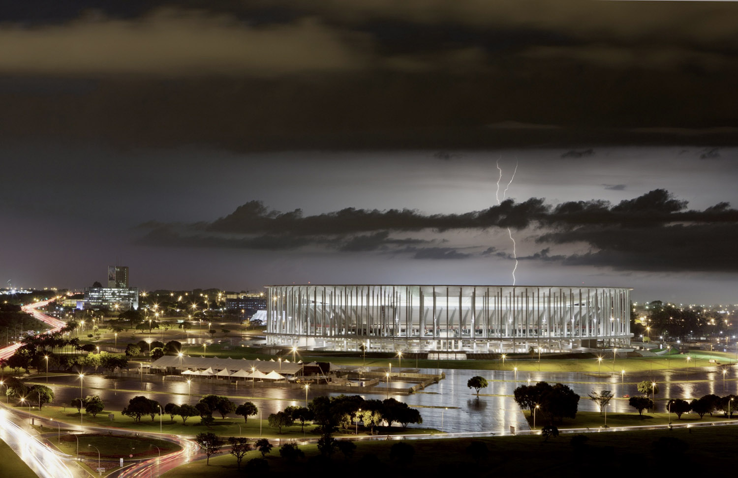 Brasilia National Stadium design by gmp architekten