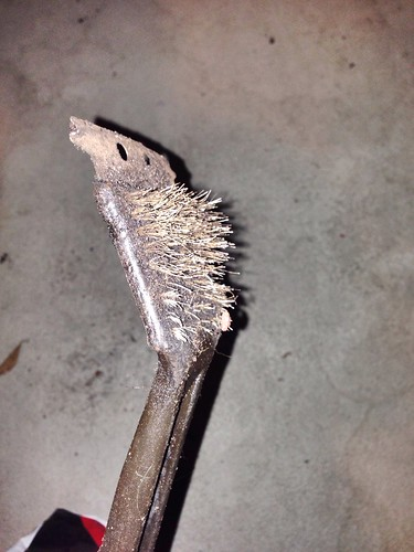 BBQ brush left behind by former owner.