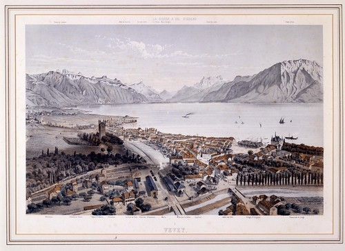 General view of Vevey around 1870