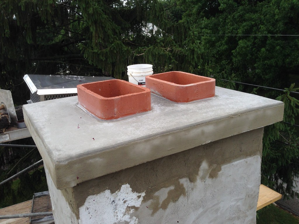 Concrete Chimney Blocks : Chimney caps and covers home hearth masonry