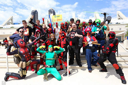 Deadpool Cosplayers and Creators. And Bob.