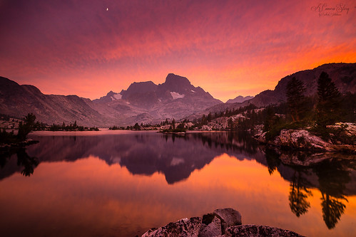 Sunset at Garnet Lake