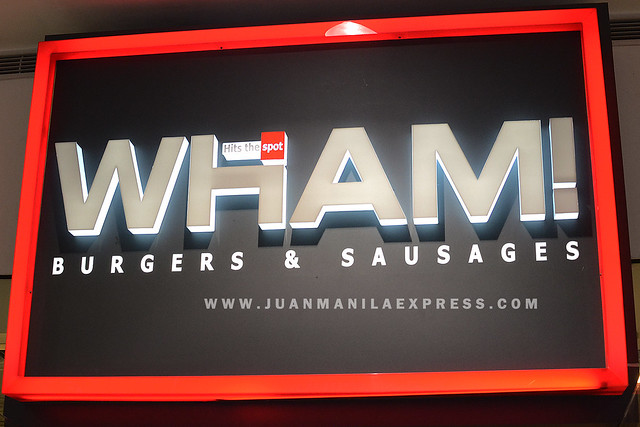 WHAM! BURGERS AND SAUSAGES LOGO.