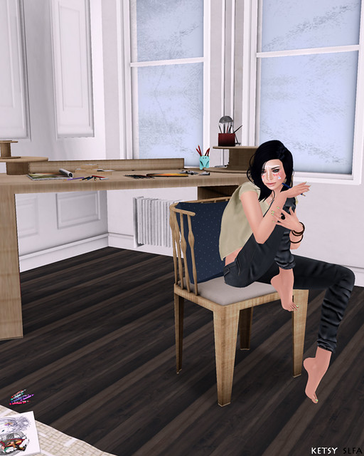 The Artist At Work (New Post @ Second Life Fashion Addict)